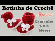Botinha de crochê sanfonada com Laço - YouTube