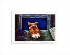 Evie Anderson Welsh Corgi Art SIGNED PRINT Puppy by eviecorgiart, $22.99 via etsy.com