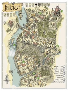 An understanding of Dungeons and Dragons, board games, and other things geek. Fantasy Map Making, Fantasy City Map, Fantasy World Map, Fantasy Town, Fantasy Rpg, Medieval Fantasy, Fantasy Books, Rpg Map, Dungeon Maps