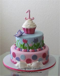 Butterfly Cupcake Theme Cake