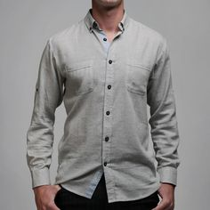 Merseyside Twill Shirt Gray now featured on Fab.
