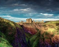 Dunnottar Castle (Scotland) has a colourful history, being the garrison that held out against Cromwell's army for eight months.