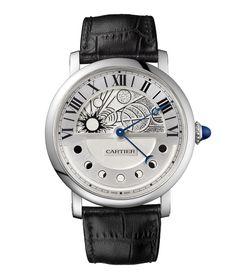 La montre cadran solaire Rotonde Jour & Nuit de Cartier http://www.vogue.fr/joaillerie/le-bijou-du-jour/diaporama/la-montre-cadran-solaire-rotonde-jour-nuit-de-cartier/19201