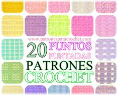 Colección 20 puntos a crochet Crochet Stitches, Knit Crochet, Crochet Patterns, Crochet Books, Fabric Manipulation, Knitting, Amelia, Crocheting, Magazines