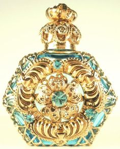 dorado filigrana Perfume Perfume botella | Buy #gemstones online at mystichue.com