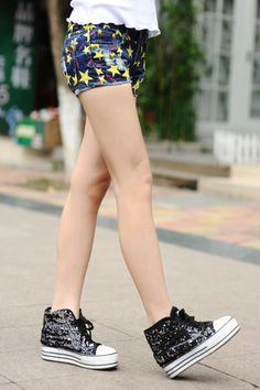2014 Summer Women's Denim Short Jeans Hole Fashion Hot selling Female shorts Pant Star Design Slim-inShorts from Apparel & Accessories on Al...