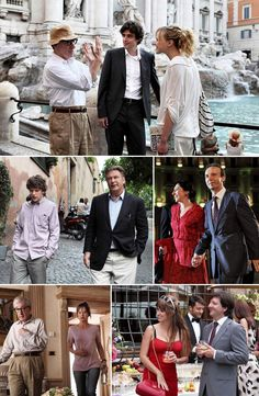 Scenes from Woody Allen's new film based in Rome!! :-D