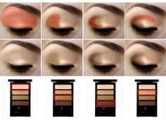 How to apply eye shadow properly - great visual- step by step application instructions