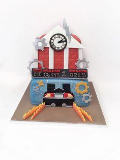 Back To The Future cake Movie Cakes, Cupcake Cakes, Cupcakes, Bttf, Back To The Future, Fancy Cakes, Celebration Cakes, Cake Art, 40th Birthday