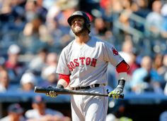 NEW YORK — Red Sox second baseman Dustin Pedroia was scratched from the lineup before Sunday night's game against the Yankees and returned to Boston with a left wrist injury the team fears could be serious. Dustin Pedroia, Sunday Night, Boston Red Sox, Patriots, Lineup, Mlb, Baseball Cards, Game, Sports