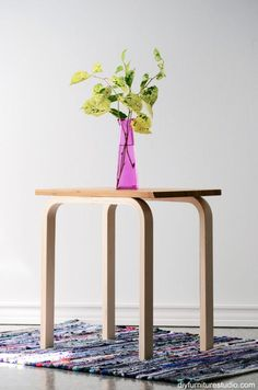 Clever Ways to Hack the IKEA FROSTA Stool | These frosta stool hacks make DIY tables, chairs and storage solutions a budget friendly upgrade for any small space. It's a way to add IKEA to your bedroom, living room, or other place without breaking the bank. These projects are quick and easy.