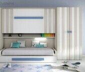 Combinación cama abatible y fija. Colores.