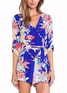 Just In Oriental Floral W... Shop Now! http://www.shopelettra.com/products/oriental-floral-wrap-romper?utm_campaign=social_autopilot&utm_source=pin&utm_medium=pin #love #ootd
