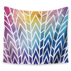 "Multicolor Abstract Matt Eklund Shattering Rainbows Wall Tapestry (51""x60"") - Kess InHouse,"