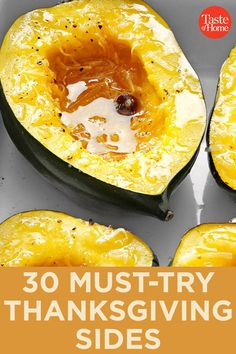 30 Must-Try Thanksgiving Sides Because tasty holiday recipes don't need to be complicated. Easy Thanksgiving Sides, Thanksgiving Menu, Fall Recipes, Holiday Recipes, Holiday Foods, Christmas Recipes, Christmas Desserts, Pumpkin Recipes, Christmas Crafts