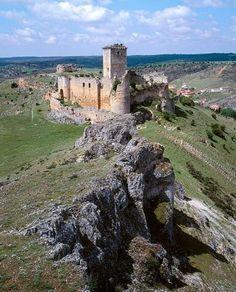 Castle (14th century), Ucero. Soria province, Castilla-León, Spain