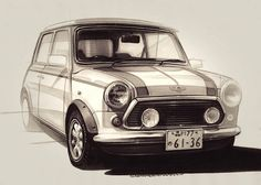 2014-02-03 | Austin Mini Sketch of the day