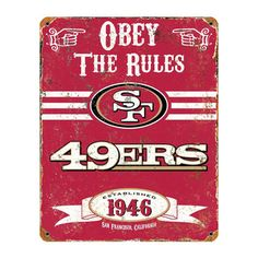 San Francisco 49ers Vintage Sign