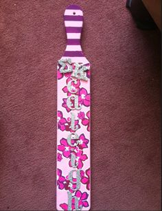 sigma kappa paddle!    For wooded stuff it would also be easy to print out the pattern on laser paper and modpodge it on.