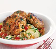 Moroccan Spiced Beef Patties With Couscous