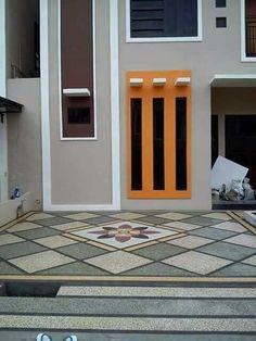 Jasa tukang batu ampyang (carport) surabaya Porch Flooring, Outdoor Flooring, Surabaya, Carport Designs, Carport Ideas, Duplex House Design, Foyer Design, Modern Staircase, Floor Patterns