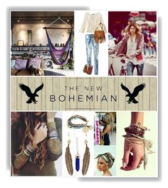 """The New Bohemian with American Eagle Outfitters: Contest Entry"" by fishetta ❤ liked on Polyvore"