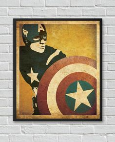 Captain America The Winter Soldier The Avengers inspired vintage movie poster on Etsy, $15.00