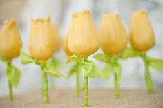 Indian Wedding Inspirations: Yellow Wedding Cake Pops. Repinned by #indianweddingsmag IndianWeddingsMag.com