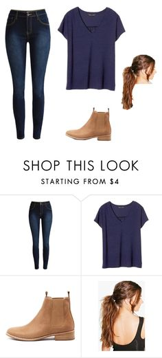 """""""Trendy but cute"""" by ellajospindler ❤ liked on Polyvore featuring Banana Republic, Mollini and Boohoo"""