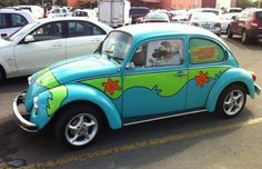 Somone spotted a Volkswagen Beetle Mystery Machine in Mexico. Wonder what Scooby was doing there? #ScoobyDoo