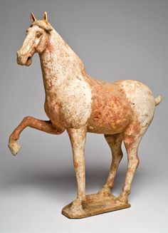 A Lively Terracotta Prancing Horse, China, Tang Dynasty, 618-907 AD >>> FOR SALE ON http://CuratorsEye.com/page.php?C=114