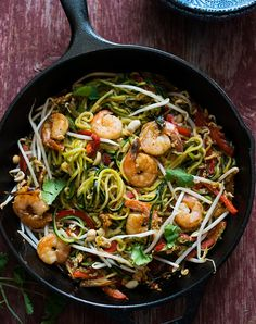 The Best Recipes for Dining Solo via @PureWow -zoodles pad thai