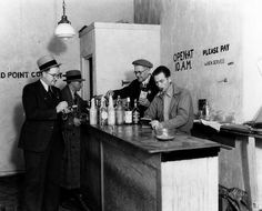 A police raid at a bar at 8480 Santa Monica Blvd.on December 29, 1932. The location, now part of West Hollywood, is now a pharmacy. (Los Ang...