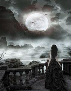 Ideas Dark Love Art Fantasy Gothic For 2019 Dark Fantasy Art, Foto Fantasy, Fantasy Magic, Fantasy World, Dark Art, Dark Gothic, Gothic Art, Eclipse Lunar, Dark Love