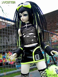 Excellent #Cybergoth #Doll