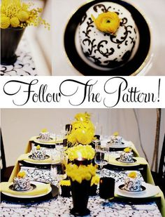 Black and yellow decorations