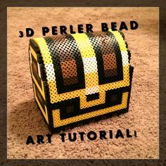 3D Perler Bead Zelda Treasure Chest!