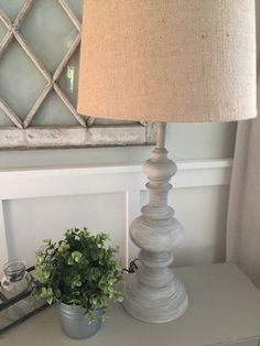 Restoration Hardware Inspired Lamps | Brass Lamps, Primer, Sherwin Willaims Paint and Wax