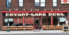 Bryant Lake Bowl has good food, good bowling, and great seats to sit outside, sip a drink, and watch people go by.