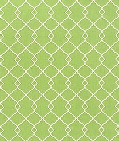 "Waverly Chippendale Fretwork Grass Fabric $13.30/yd Material: 100% Cotton  Width: 54""  Horizontal Repeat: 2 1/2""  Vertical Repeat: 3 3/8"""
