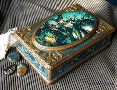 Купить Шкатулка Красивые и Ужасные - разноцветный, синий, готика, готический стиль, монстры, фентези