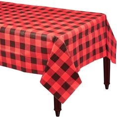 The Buffalo Plaid Table Cover features a red and black plaid design. Everyone at your lumberjack-themed party will feel like they're in a log cabin when you set the table with this paper table cover! Halloween Costume Shop, Halloween Costumes For Kids, Moose Baby Shower, Boy Shower, Lumberjack Party, Lumberjack Wedding, Christmas Party Themes, Christmas 2019, Plastic Table Covers