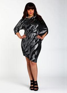 516a4701bbc58 Ashley Stewart  Metallic Foil Print Dress. Love this dress!!