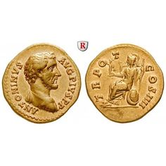 Römische Kaiserzeit, Antoninus Pius, Aureus 145-161, vz: Antoninus Pius 138-161. Aureus 20 mm 145-161 Rom. Drapierte und gepanzerte… #coins
