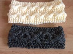 Just done in time for Christmas. Cable headbands. K Pattern is in my knitting folder.