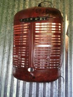 Farmall Tractor Grill Turned Into A Light by robert