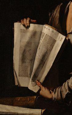 "Detail : ""Euclid"", by Jusepe de Ribera. Brown Aesthetic, Aesthetic Art, Aesthetic Pictures, Oil Canvas, Les Fables, Drawn Art, Classical Art, Detail Art, Renaissance Art"