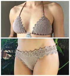 This listing is PDF FILES for CROCHET BIKINI PATTERNS: Lorelei Bikini top and Basic Bottom with 2 edging options and Doris Lingerie Bikini Top and Bottom, NOT finished/ready made items:) For Doris Bikini pattern has also instruction how to add the lining for top and bottom. And Lorelei bikini has 2 different edging options, see the last picture. Skill level Lorelei: EASY, INTERMEDIATE Doris: INTERMEDIATE You should know the basic stiches: chain stitch, single crochet, slip stitch, doubl...