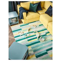IKEA - KRÖNGE Rug, low pile handmade, multicolor