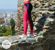 Black Fuchsia Leggings, Women Leggings, Gym Leggings, Woman Pants, Yoga Leggings, Workout Pants, Woman Tights, Woman Bottoms, Active wear